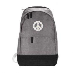 Городской рюкзак Знак мира из ромашек - FatLine