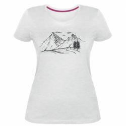 Женская стрейчевая футболка Горные красоты