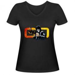 Женская футболка с V-образным вырезом Gosu