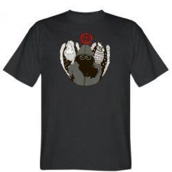 Мужская футболка Говорун на левом плече, гамаюн на правом - FatLine