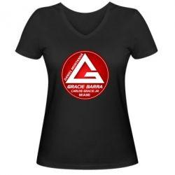 Женская футболка с V-образным вырезом Gracie Barra Miami - FatLine