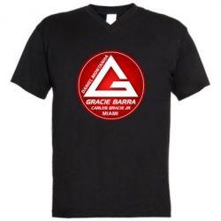 Мужская футболка  с V-образным вырезом Gracie Barra Miami - FatLine