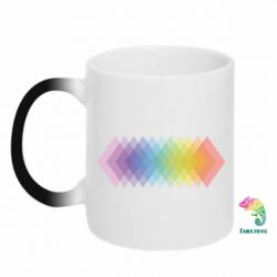 Кружка-хамелеон Gradient color transition rhombus