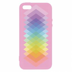 Чохол для iphone 5/5S/SE Gradient color transition rhombus