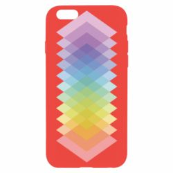 Чохол для iPhone 6/6S Gradient color transition rhombus