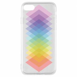 Чохол для iPhone 8 Gradient color transition rhombus