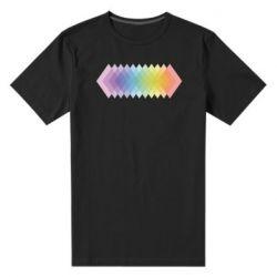 Мужская стрейчевая футболка Gradient color transition rhombus