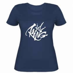 Женская футболка Graffiti king
