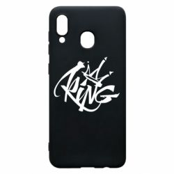 Чехол для Samsung A20 Graffiti king