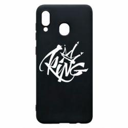 Чехол для Samsung A30 Graffiti king