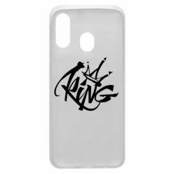 Чехол для Samsung A40 Graffiti king