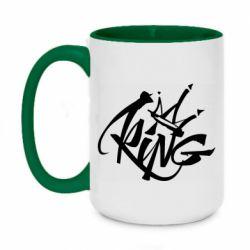 Кружка двухцветная 420ml Graffiti king