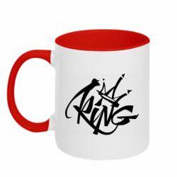 Кружка двухцветная 320ml Graffiti king