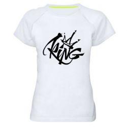 Женская спортивная футболка Graffiti king