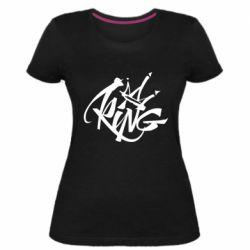 Женская стрейчевая футболка Graffiti king