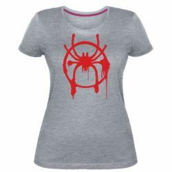 Жіноча стрейчева футболка Graffiti Spider Man Logo