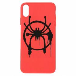 Чохол для iPhone Xs Max Graffiti Spider Man Logo