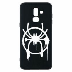 Чохол для Samsung J8 2018 Graffiti Spider Man Logo