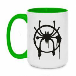 Кружка двоколірна 420ml Graffiti Spider Man Logo
