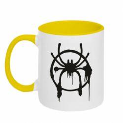 Кружка двоколірна 320ml Graffiti Spider Man Logo