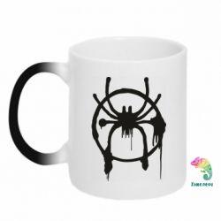 Кружка-хамелеон Graffiti Spider Man Logo