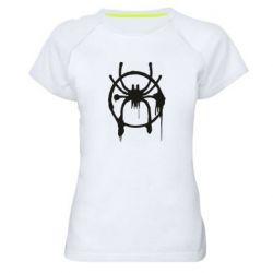 Жіноча спортивна футболка Graffiti Spider Man Logo