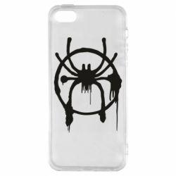 Чохол для iphone 5/5S/SE Graffiti Spider Man Logo