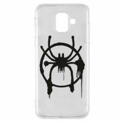 Чохол для Samsung A6 2018 Graffiti Spider Man Logo