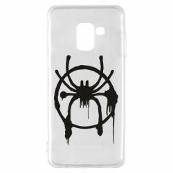 Чохол для Samsung A8 2018 Graffiti Spider Man Logo