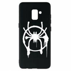 Чохол для Samsung A8+ 2018 Graffiti Spider Man Logo