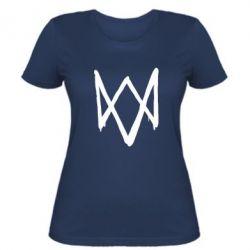 Женская футболка Graffiti Watch Dogs logo