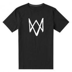 Мужская стрейчевая футболка Graffiti Watch Dogs logo