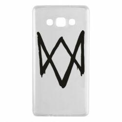 Чехол для Samsung A7 2015 Graffiti Watch Dogs logo