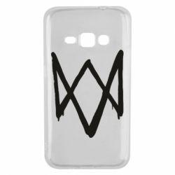 Чехол для Samsung J1 2016 Graffiti Watch Dogs logo