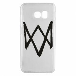 Чехол для Samsung S6 EDGE Graffiti Watch Dogs logo