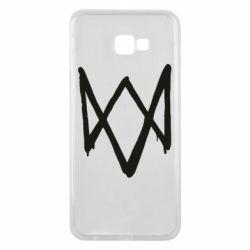 Чехол для Samsung J4 Plus 2018 Graffiti Watch Dogs logo