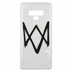 Чехол для Samsung Note 9 Graffiti Watch Dogs logo