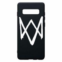 Чехол для Samsung S10+ Graffiti Watch Dogs logo