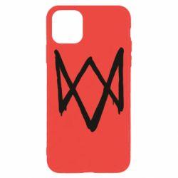 Чехол для iPhone 11 Pro Max Graffiti Watch Dogs logo
