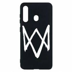 Чехол для Samsung M40 Graffiti Watch Dogs logo
