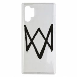 Чехол для Samsung Note 10 Plus Graffiti Watch Dogs logo