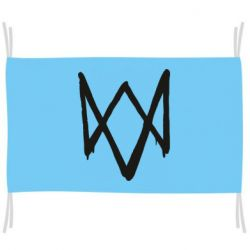 Флаг Graffiti Watch Dogs logo