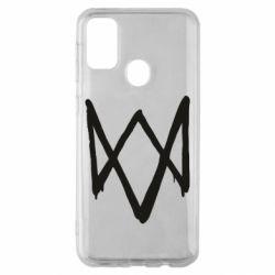 Чехол для Samsung M30s Graffiti Watch Dogs logo