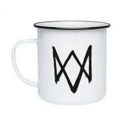 Кружка эмалированная Graffiti Watch Dogs logo