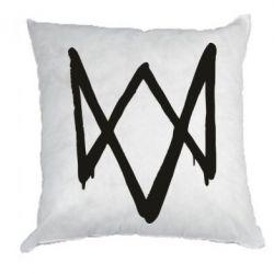 Подушка Graffiti Watch Dogs logo