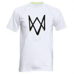 Мужская спортивная футболка Graffiti Watch Dogs logo