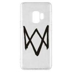Чехол для Samsung S9 Graffiti Watch Dogs logo