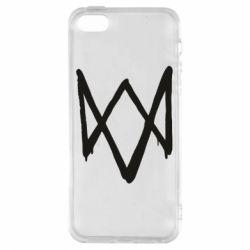 Чехол для iPhone5/5S/SE Graffiti Watch Dogs logo