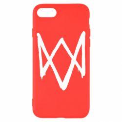 Чехол для iPhone 7 Graffiti Watch Dogs logo