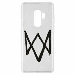 Чехол для Samsung S9+ Graffiti Watch Dogs logo